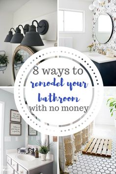 How to remodel your bathroom with almost no money! Easy DIY projects.