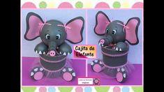 ♥♥Cajita organizadora de elefante hecha con lata de aluminio-Creaciones ...