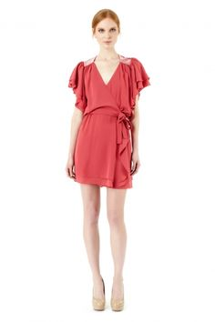 Erin Fetherston - Embellished Ruffle Wrap Dress - New Arrivals