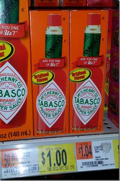 Tabasco Sauce Just $