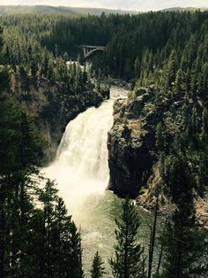 The Niagara of Yellowstone National Park
