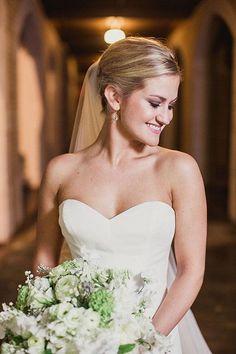 A simple updo with a veil | @shaunmenary | Brides.com