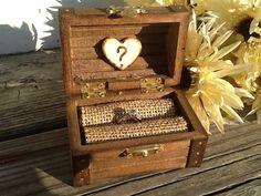 Rustic wedding ring box, nautical beach side wedding, ring pillow alternative, country wedding on Etsy, $29.95