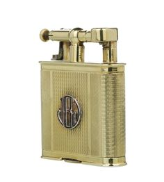 Dunhill RARE w Amp G Solid 15ct Gold Amp Ruby B Size Unique Petrol Lighter London 1926 | eBay