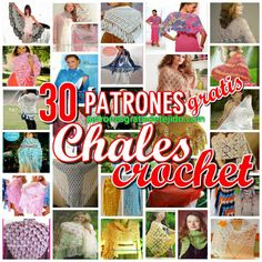 collection of graphics crochet shawls for Knitted Shawls, Crochet Scarves, Crochet Shawl, Crochet Gratis, Crochet Slippers, Crochet Patterns, Textiles, Knitting, Projects