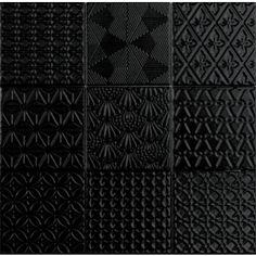 Seinälaatta OLO Spirit Musta 9,8 x 9,8 - Bauhaus