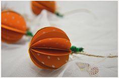 süße Herbst- / Halloween-Girlande Kürbis - ein Designerstück von A-Little-Fashion