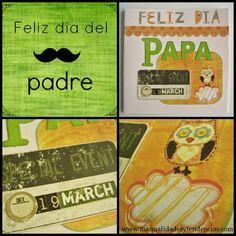 Scrapbooking Tarjeta día del padre / Father's day card / Carte fête des pères  www.manualidadesytendencias.com