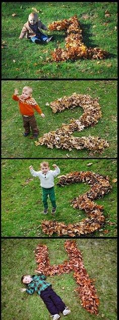 Catching your child's age in the leaves