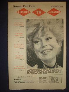 Carol Channing, Leisure, TV and Radio ~ Winnipeg Free Press, November 11 1967