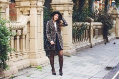 """Mimi Ikonn """"The Leopard Coat"""" Fall Outfit . More pictures and full blog post on http://www.mimiikonn.com"""