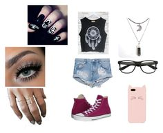 """""""Dream catcher"""" by midnighttt ❤ liked on Polyvore featuring One Teaspoon, Converse and Kate Spade"""
