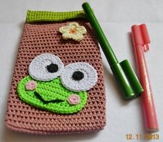 Keroppi Crochet Pencil Case.