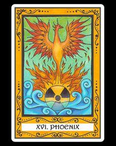 Phoenix(The Tower)-The Incidental Tarot