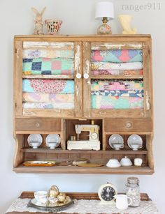 Very cool cabinet full of quilts - from Ranger 911: It's a cool, cool summer.