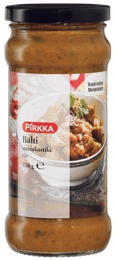 Pirkka Balti ateriakastike on mausteinen, aromikas intialainen kastike aterialle. Kätevä kastike on lämmitystä vaille valmis. Kokeile kastikkeen kanssa erilaisia lisäkkeitä.