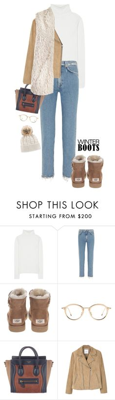 """Winter Boots"" by yagmur ❤ liked on Polyvore featuring Chloé, Acne Studios, UGG, CÉLINE, MANGO and Sans Souci"