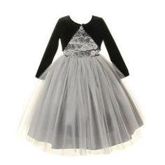 Cinderella Couture New Tween Girls Christmas Platinum Tulle Party Dress & Velvet Bolero Jacket 8-14