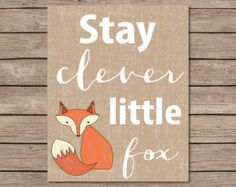 70% OFF THRU 1/14 Fox Printable Instant Download by dodidoodles