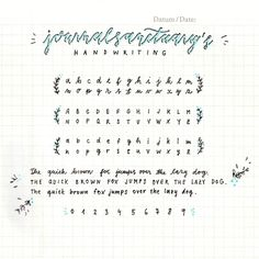 "journalsanctuary: ""I got tagged on instagram to do the handwriting tag and I thought some of you might want to see it here too! ^^ """