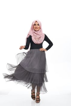 Sweet as Candy. Strong as Steel.  Walk with your best foot forward.    http://www.sea-citizen.com/darccylondon-triple-tier-tulle-ashgrey