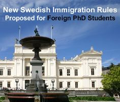 New Swedish Immigration Rules for PhD students