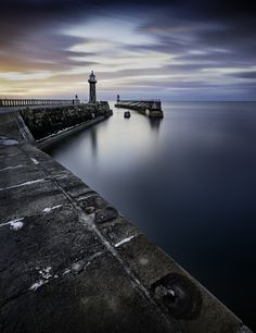 Whitby Piers - North Yorkshire, England