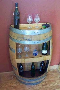 create your own mini bar, repurposing upcycling, storage ideas, Recycle a old barrel into a mini bar can be used as a outside decor and inside home decor