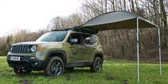 Jeep Renegade Hunter von Pappas >>> Das Fahrwerk wurde um 35 Millimeter höhergelegt, MT-Reifen in der Größe 235/70R16 sorgen für Vortrieb in unwegsamem Gelände. Eine integrierte Seilwinde von WARN hat eine Zugkraft von knapp über 2 Tonnen.