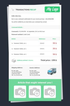 Mario Cart : http://stamplia.com/html-email-template/transactional-emails/invoices-and-receipts/mario_cart