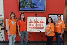 SA Goes Orange - Our friends from @ATT stopped by to volunteer and surprised us by wearing ORANGE. Are you wearing orange today? www.sagoesorange.org #sagoesorange