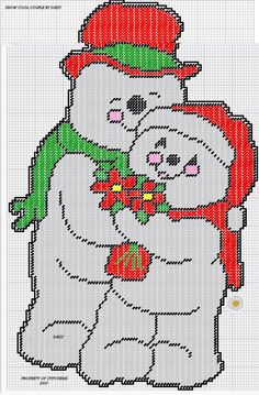 SNOW COOL COUPLE by DAISY*STITCHEMS -- WALL HANGING 2/2