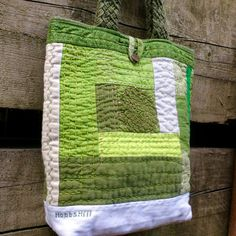 Check out this item in my Etsy shop https://www.etsy.com/ca/listing/467780516/hand-quilted-green-linen-tote-patchwork