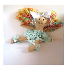 Cute cloth doll dressed up by janeylaughs on Etsy