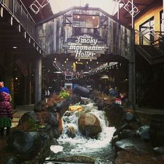 Went here! It was so much fun. Will definitely go again in a heartbeat. Ole Smokey Moonshine Distillery. Gatlinburg, Tennessee.
