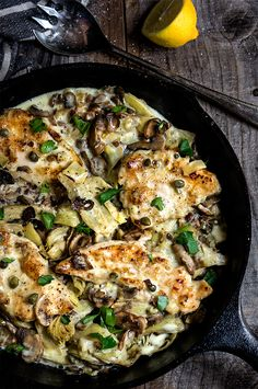 Artichokes with greek chicken