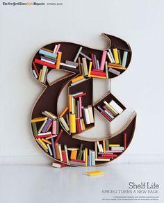 Love this unusual bookshelf