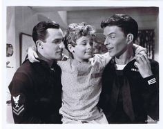 """Gene Kelly, a very young Dean Stockwell, and Frank Sinatra, """"Anchors Aweigh"""" (1945)."""