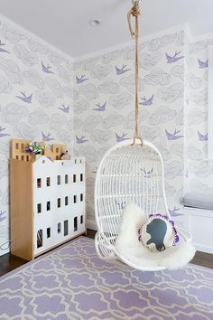 A little girl's lavender dreams I ft. Daydream (Lilac) wallpaper by Julia Rothman