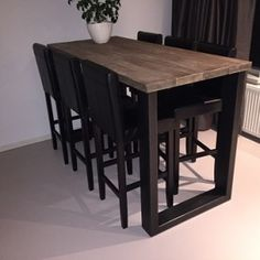 "Exceptional ""high top tables diy"" detail is available on our site. Read more and you wont be sorry you did. High Table Kitchen, High Dining Table, High Top Tables, Table And Chairs, Kitchen Decor, Diy Table, Glass Table, Dinner Table, Bars For Home"