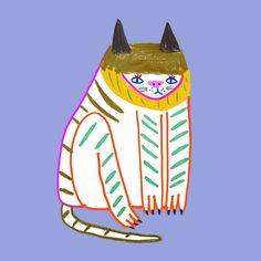 Illustration by Ashley Percival. Logo Character, Character Design, Bad Drawings, Print Design, Art Print, Love Illustration, Silhouette, Artist At Work, Cat Art