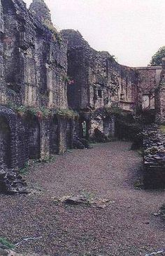 Haverfordwest Castle, Pembrokeshire, Wales... looks great from here... theres not too much to it though :(