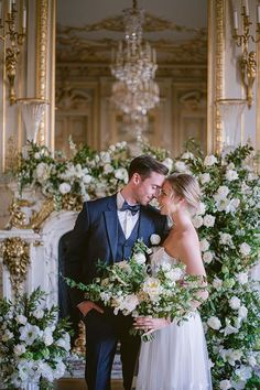 """This magical intimate wedding celebration in Paris is about marrying contemporary table art, a textured 3D embellished gown and accessories with the hotel's """"classic"""" style to create a timeless and chic atmosphere. The modern, elegant and graceful couple in a classic atmosphere captured in a fine art style that translates to a delicate and sweet memory when looking back years from today. Wedding Officiant, Wedding Venues, Paris Wedding, Wedding Day, Shangri La Paris, Embellished Gown, Strictly Weddings, Event Planning Design, Eiffel"""