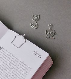 Cupcake Tulip Tea Cup Page Holder Bookmarks by WireExpressions