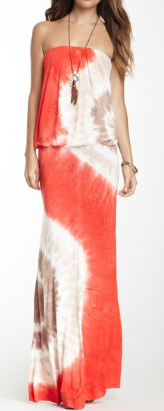 Tie Dye Maxi ~ This wouldn't be that hard to make! Plain cotton maxi, hardly any sewing, and tie~dye