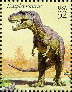 Daspletosaurus , a likely ancestor of T Rex.USA postage 1997