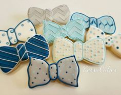 Bow tie cookies, royal icing sugar cookies , boy baby shower, boys baptism cookies , baby boy birthday party,father's day by KessaCakes on Etsy