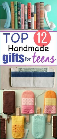 12 Handmade Gifts for Teens.  Gifts tweens and teenagers will love.  Make something special and personalized that teens will actually use.  Easter gifts for teens.