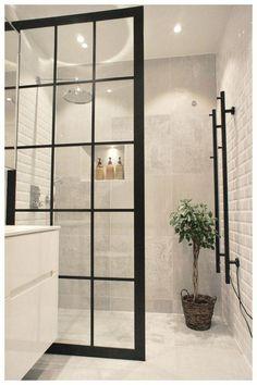 Duschwand Industriedesign Design industrial da parede do chuveiro – – Bathroom Decor Sets, Bathroom Renos, Bathroom Renovations, Modern Bathroom, Master Bathroom, Bathroom Ideas, Bathroom Wall, Bling Bathroom, Glass Bathroom