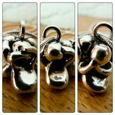Fine silver made by JewelAholic. See no evil, hear no evil, speak no evil.
